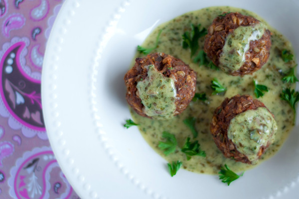 Vegetarian Meatball Recipes  Ve arian meatballs with pesto cream sauce recipe