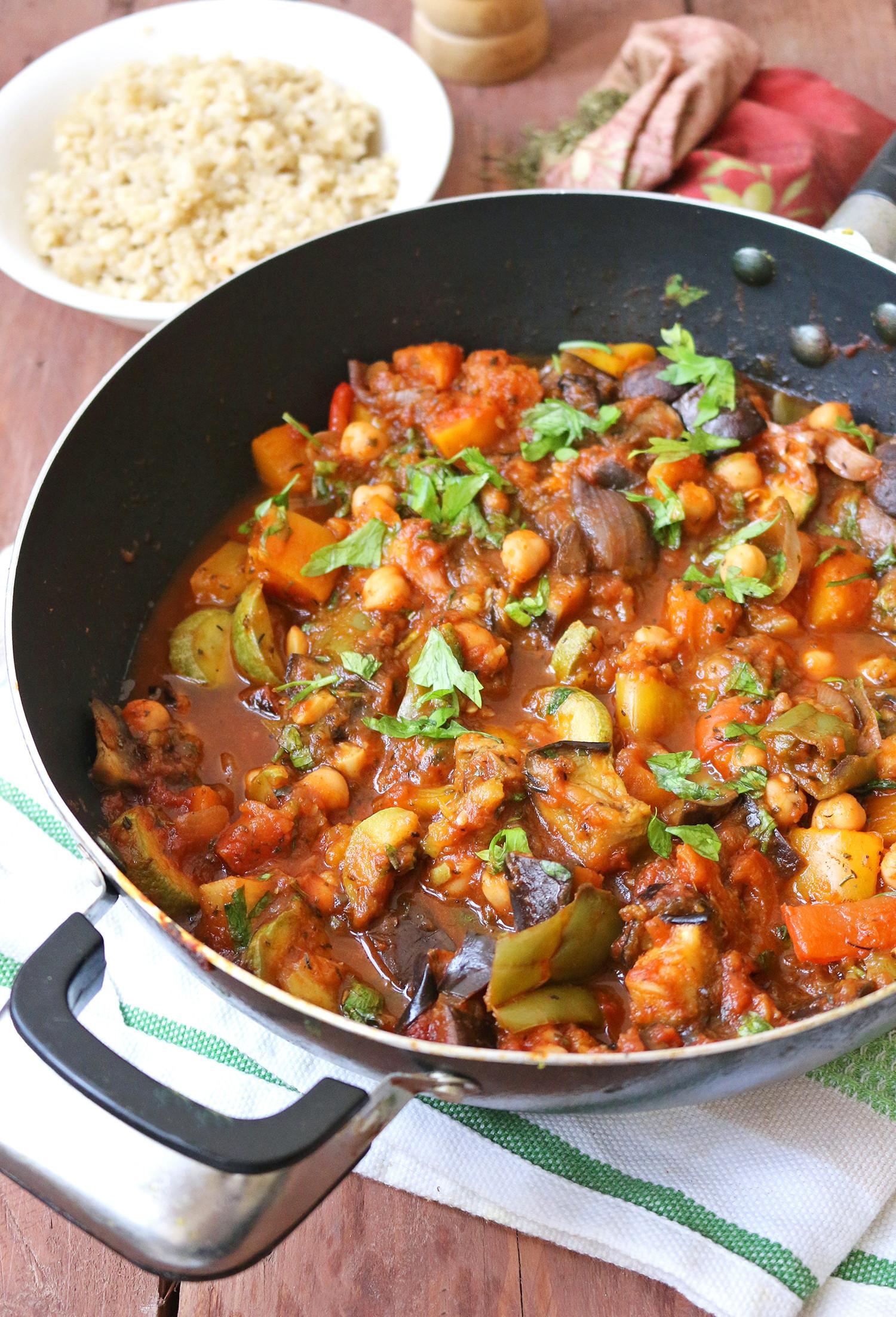 Vegetarian Mediterranean Recipes  Mediterranean Ve able and Chickpea Stew