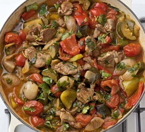 Vegetarian Mediterranean Recipes  Mediterranean ve ables with lamb recipe