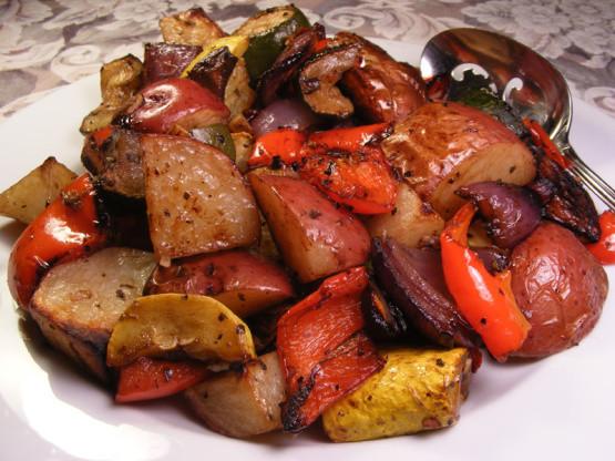 Vegetarian Mediterranean Recipes  Roasted Mediterranean Ve ables Recipe Genius Kitchen