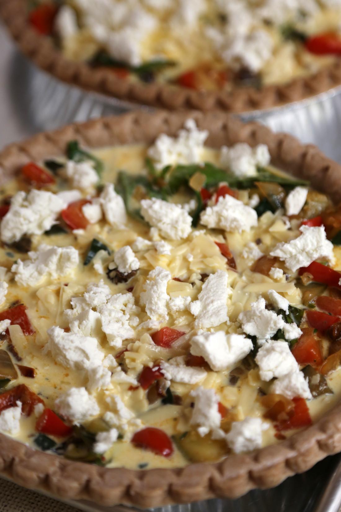 Vegetarian Mediterranean Recipes  Ve arian Mediterranean Quiche Recipe