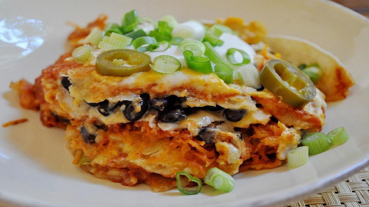 Vegetarian Mexican Casserole Corn Tortillas  Mexican Lasagna or Corn Tortilla Casserole Ve arian