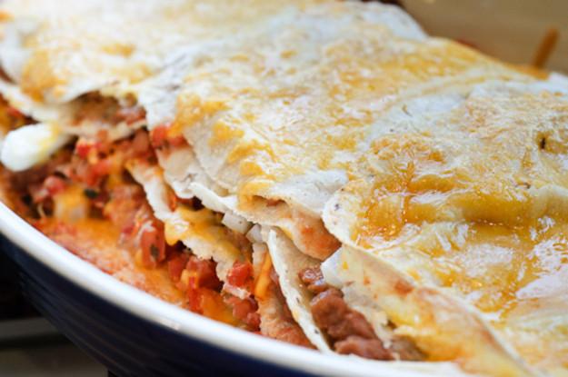 Vegetarian Mexican Casserole Corn Tortillas  Seriously Meatless Tortilla Casserole Recipe