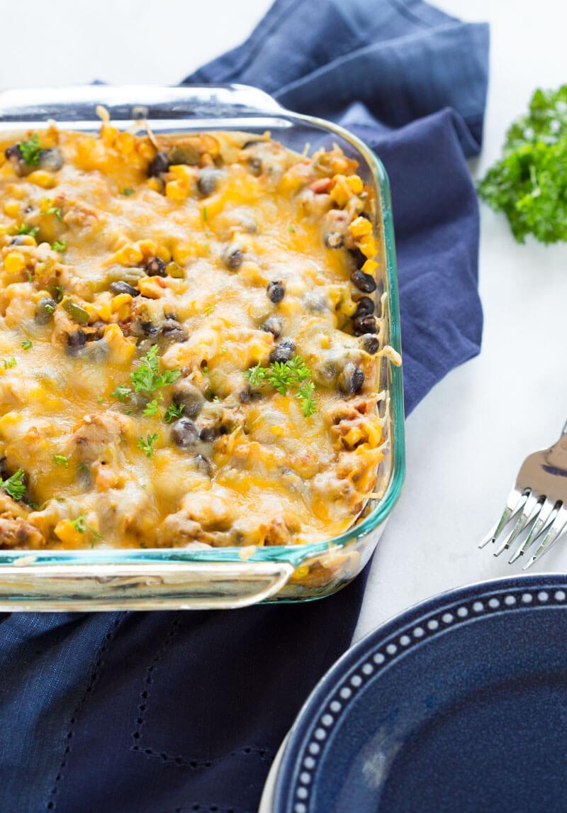 Vegetarian Mexican Casserole Corn Tortillas  ve arian flour tortilla casserole