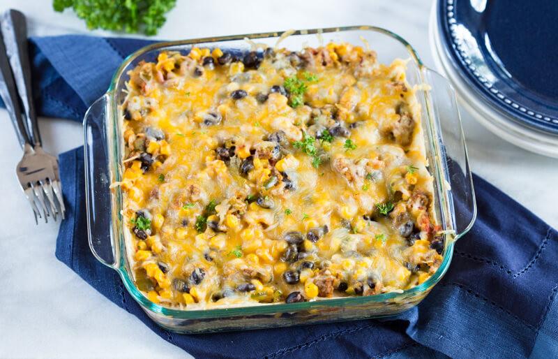 Vegetarian Mexican Casserole Corn Tortillas  Ve arian Tortilla Casserole