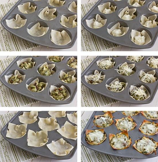 Vegetarian Muffin Tin Recipes  Mini Ve able Lasagnas A Recipe by OhMyVeggies