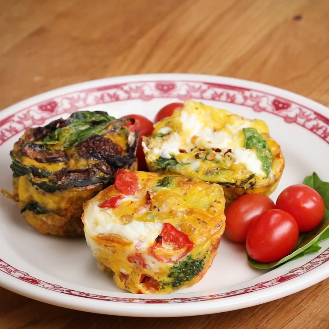 Vegetarian Muffin Tin Recipes  Muffin Tin Customizable Veggie Egg Cups Recipe by Tasty