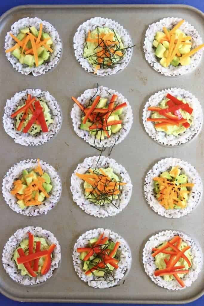 Vegetarian Muffin Tin Recipes  Muffin Tin Sushi Cups Vegan GF