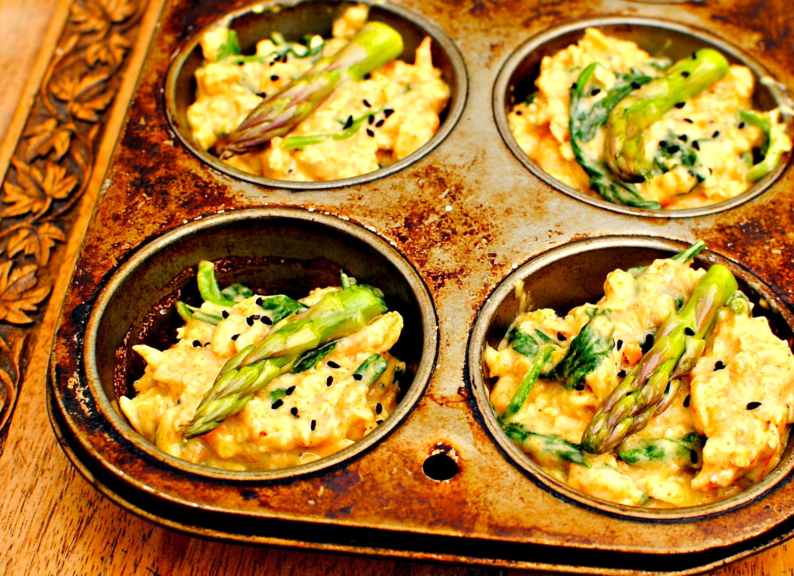 Vegetarian Muffin Tin Recipes  Sunny Spring Ve able Breakfast Muffins