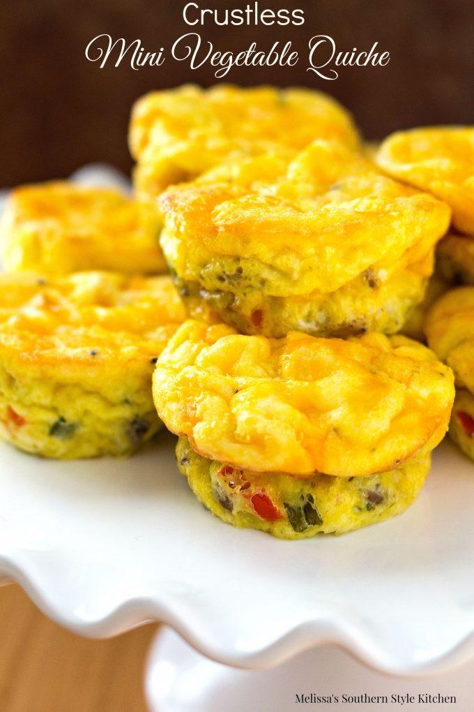 Vegetarian Muffin Tin Recipes  Crustless Mini Ve able Quiche
