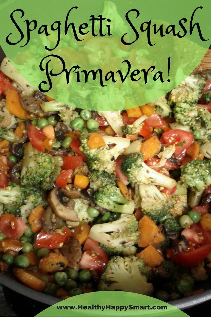 Vegetarian Paleo Recipes  spaghetti squash primavera veggies galore Great