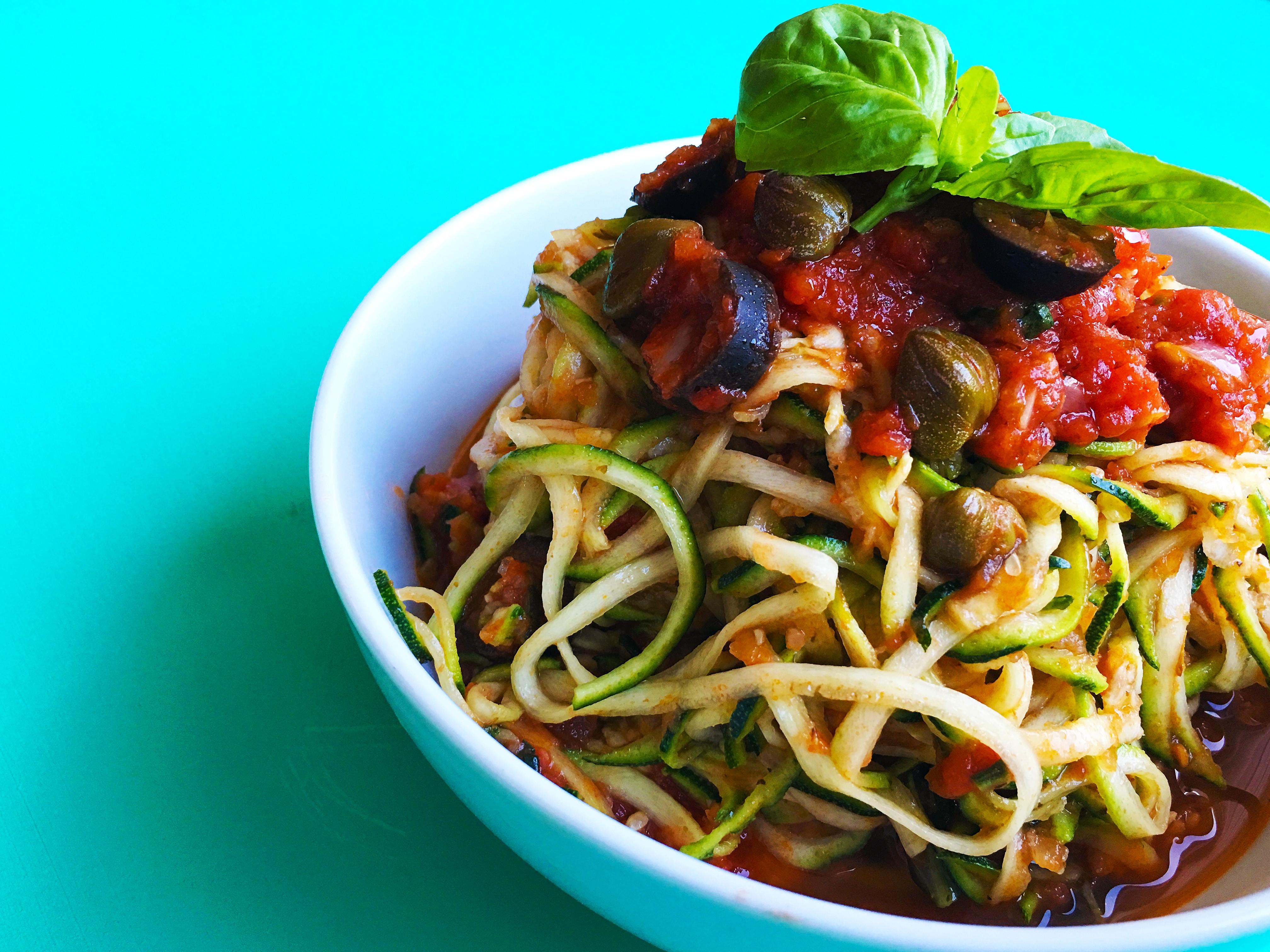 Vegetarian Paleo Recipes  Paleo Pasta Recipe Cour ti with Vegan Puttanesca Sauce