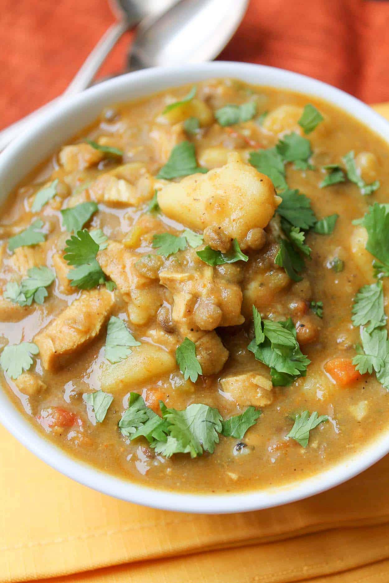 Vegetarian Potato Stew  Curried Lentil & Potato Stew Vegan & Gluten Free