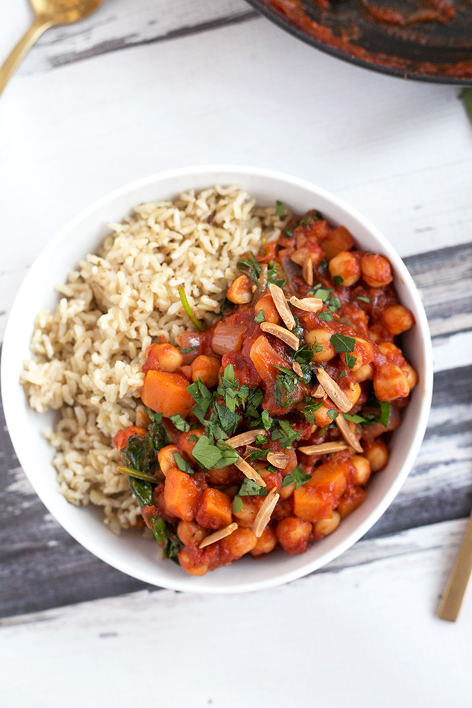 Vegetarian Potato Stew  ve arian chickpea stew
