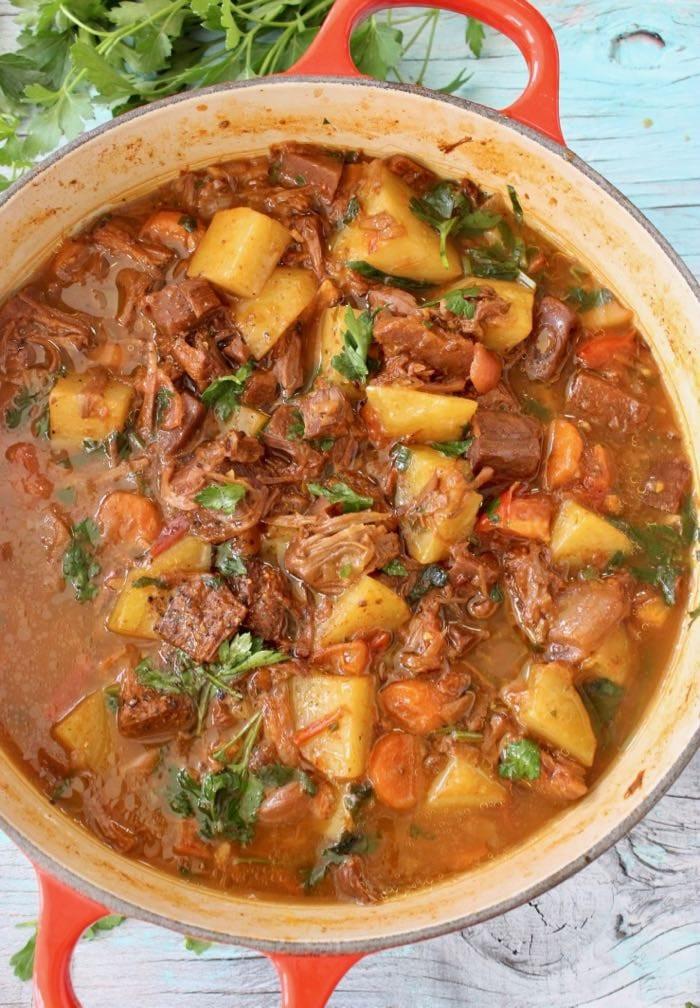 Vegetarian Potato Stew  Vegan Potato Jackfruit Stew Recipe Veggie Society