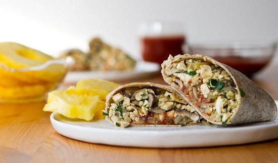 Vegetarian Protein Breakfast  High Protein Vegan Breakfast Burrito — Oh She Glows
