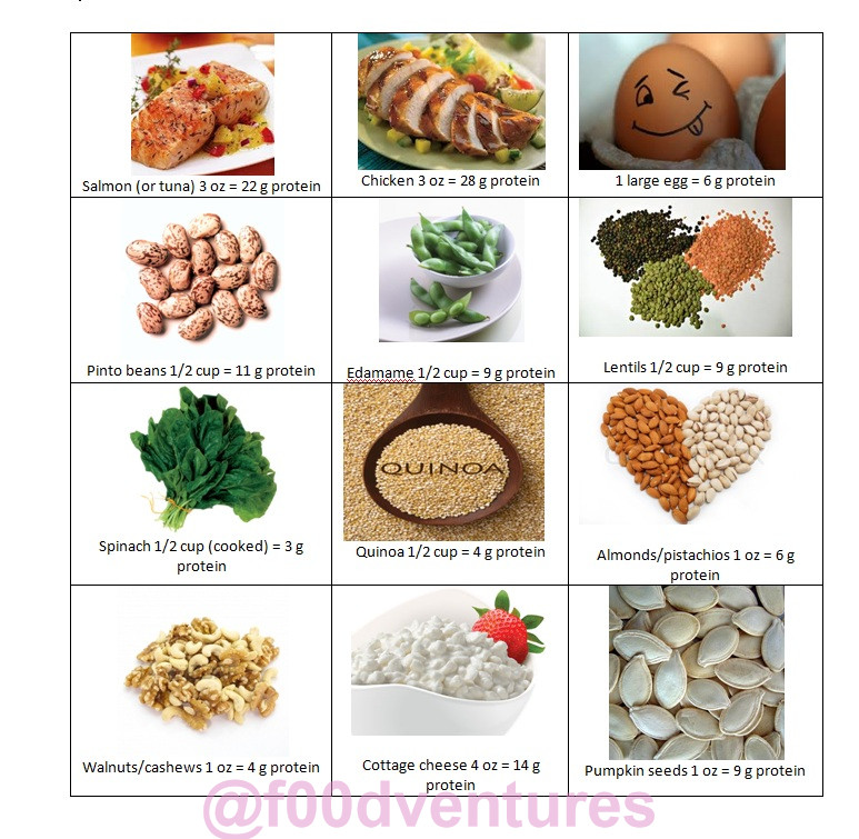 Vegetarian Protein Rich Foods  Handy dandy little reference for protein rich foods