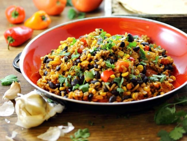 Vegetarian Recipes Cheap  Mexican Fried Brown Rice