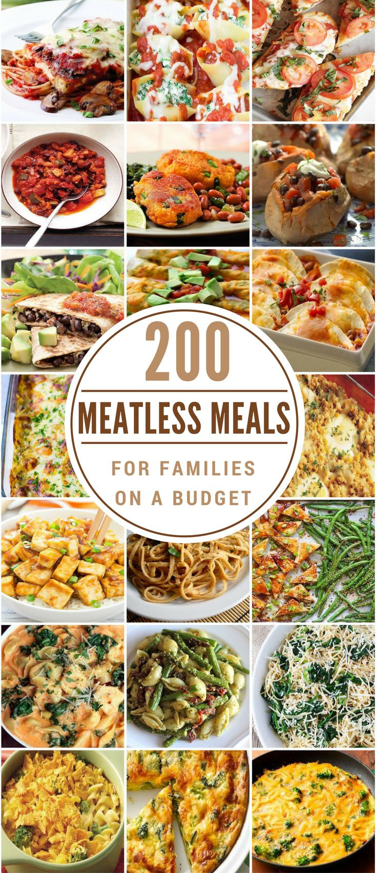 Vegetarian Recipes Cheap  200 Meatless Meals for Families on a Bud