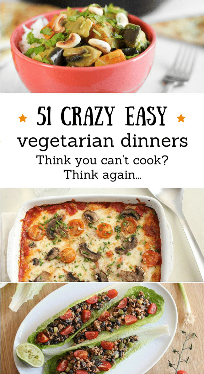 Vegetarian Recipes For Dinner  ve arian recipes easy