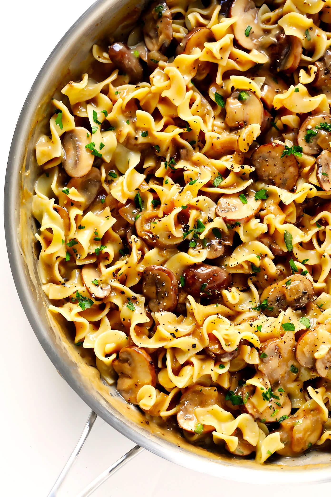 Vegetarian Recipes Mushrooms  Mushroom Stroganoff