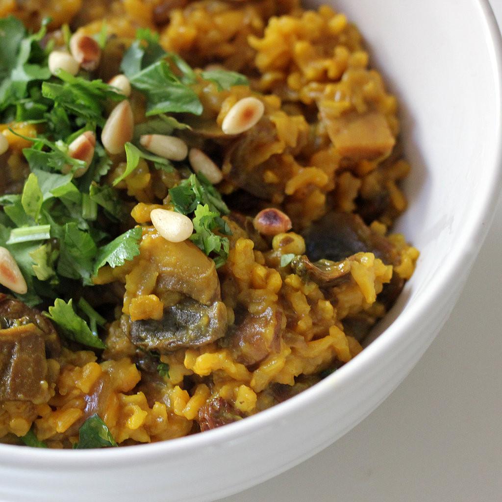 Vegetarian Recipes Mushrooms  Ve arian Mushroom Pilaf Recipe