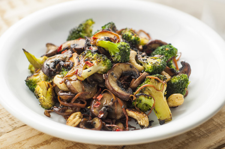 Vegetarian Recipes Mushrooms  Broccoli and Mushroom Stir Fry