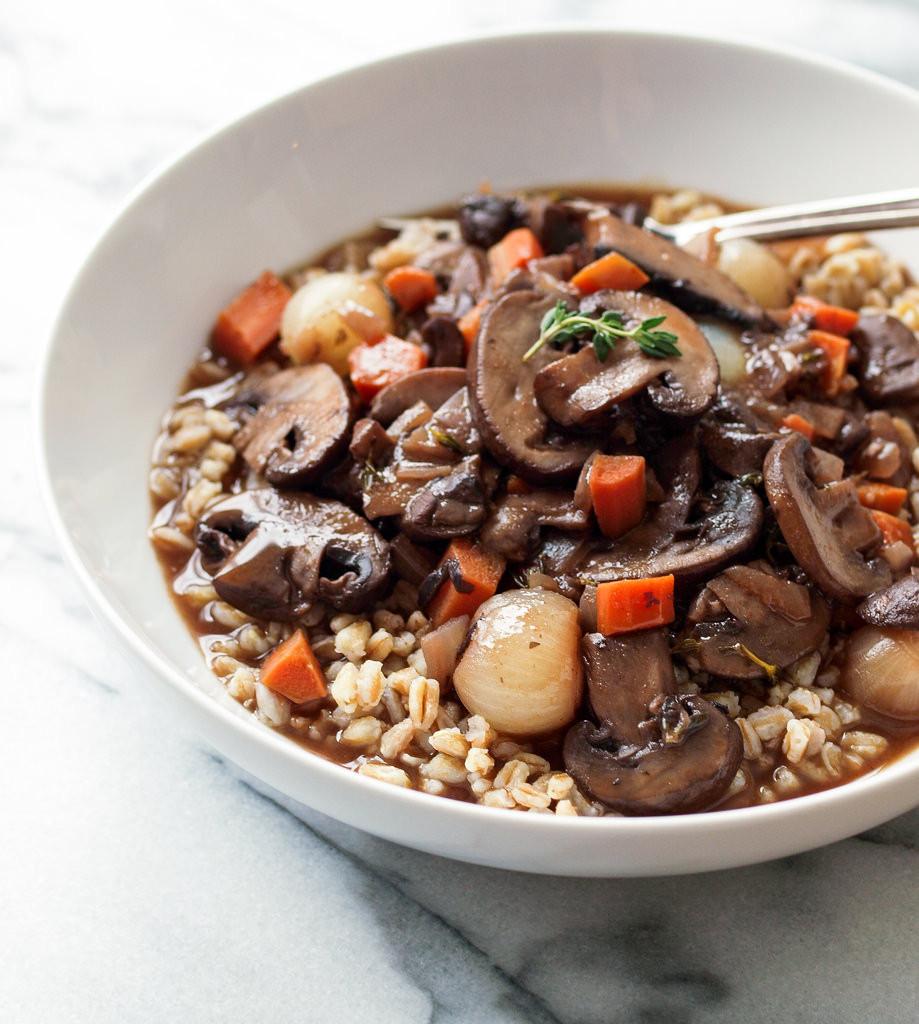 Vegetarian Recipes Mushrooms  MUSHROOM BOURGUIGNON VEGAN WINE THE SIMPLE VEGANISTA