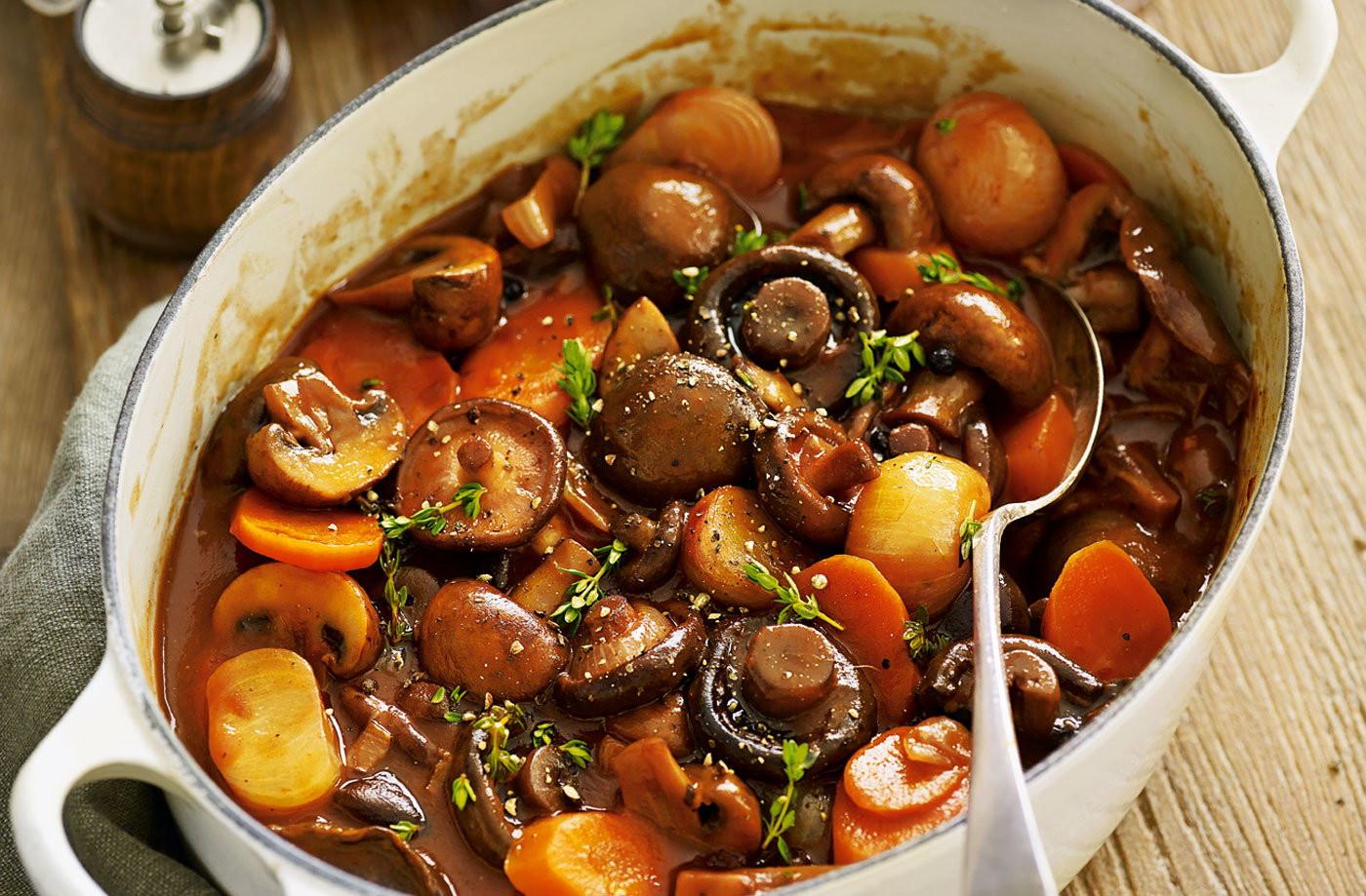 Vegetarian Recipes Mushrooms  Mushroom bourguignon