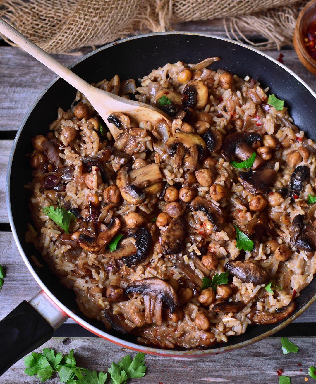 Vegetarian Recipes Mushrooms  Vegan mushroom risotto