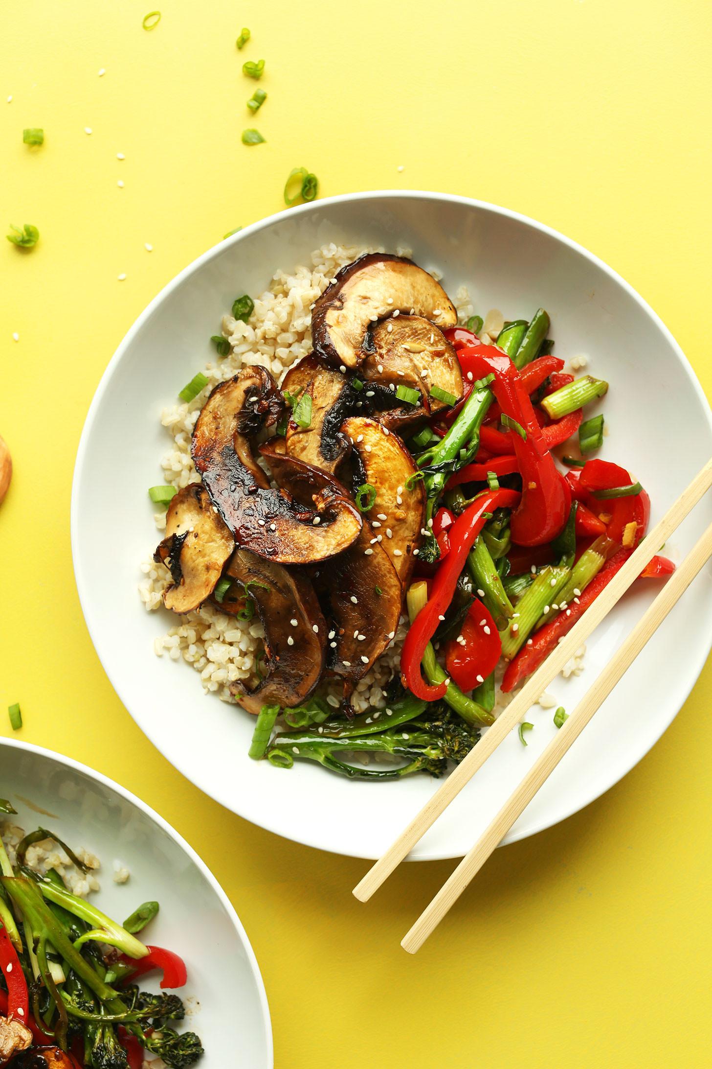 Vegetarian Recipes Mushrooms  portobello mushroom steak vegan