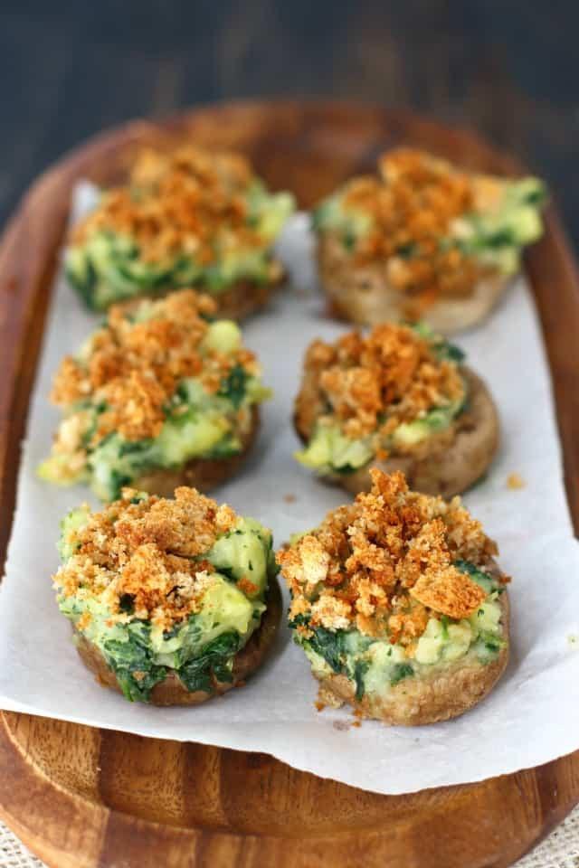 Vegetarian Recipes Mushrooms  Vegan Stuffed Mushrooms The Pretty Bee