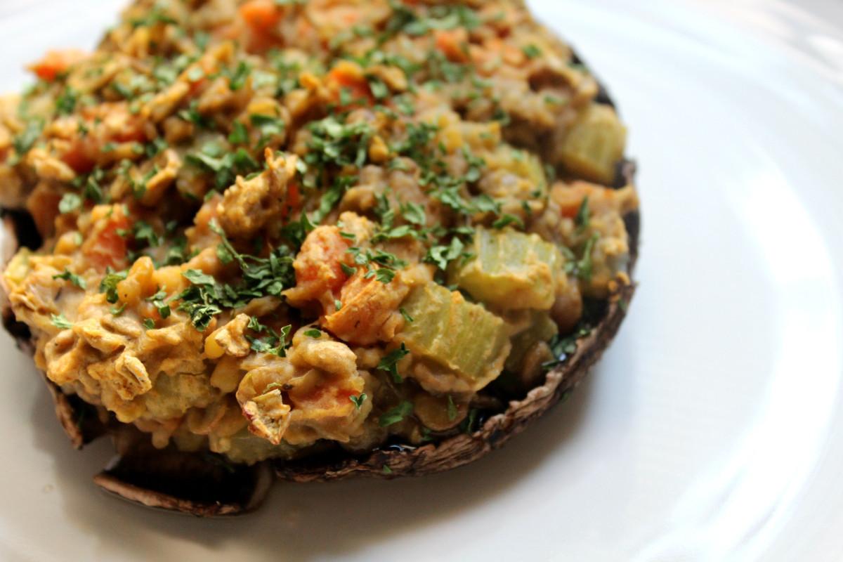 Vegetarian Recipes Mushrooms  Vegan Stuffed Portobello Mushrooms and a Sweet Crunchy