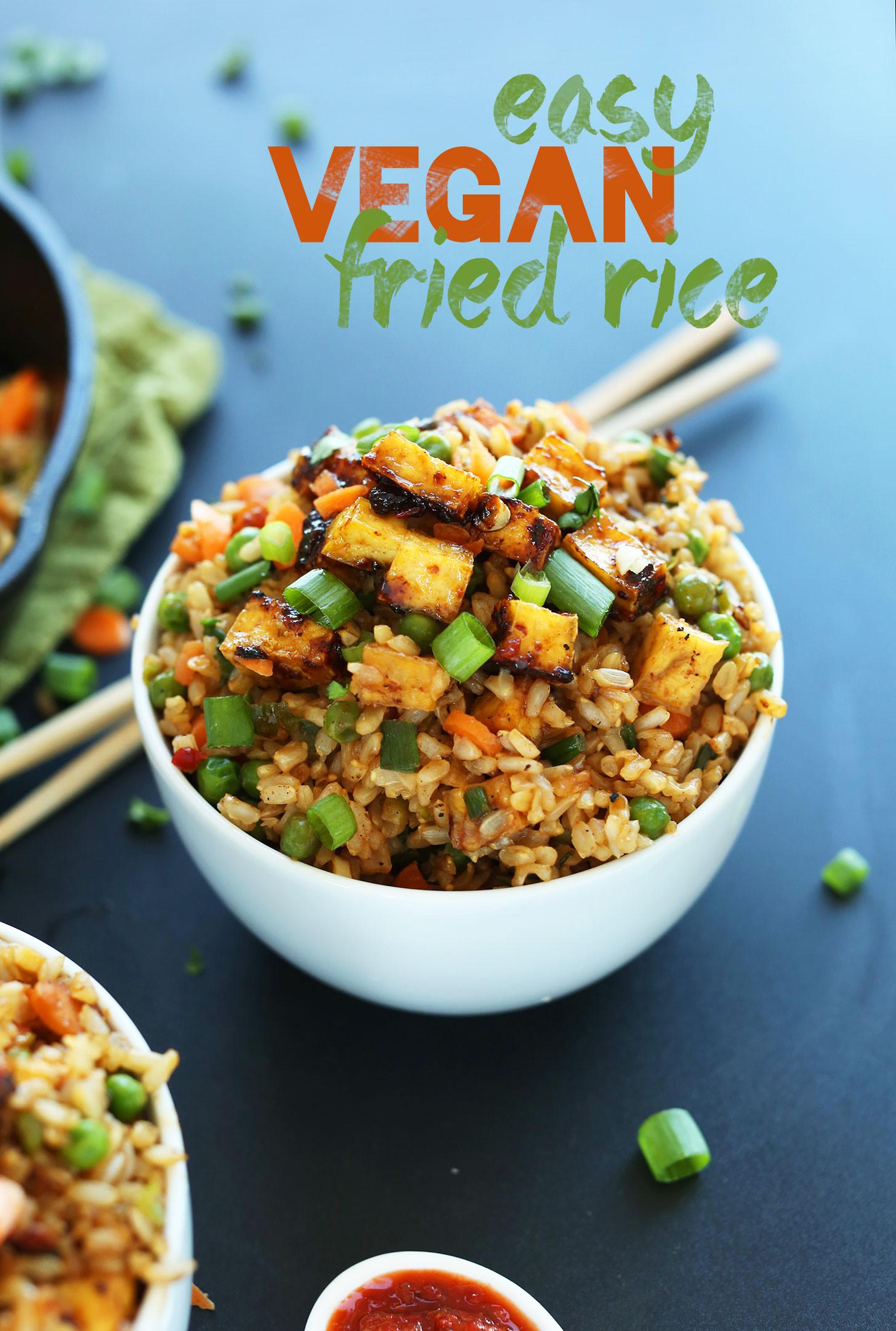 Vegetarian Recipes Video  Vegan Fried Rice