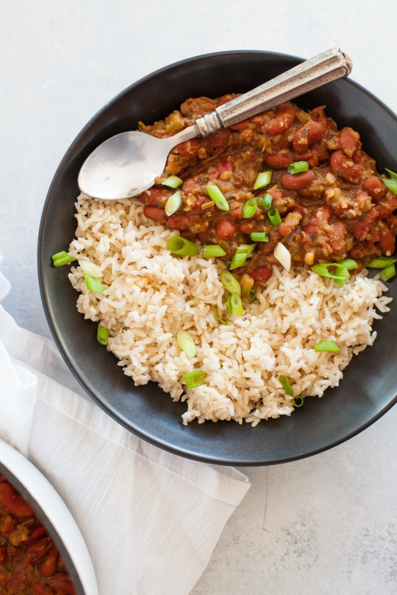 Vegetarian Rice And Bean Recipes  Vegan Red Beans and Rice Wholefully