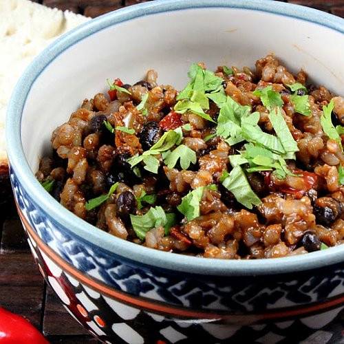 Vegetarian Rice And Bean Recipes  Ve arian Cuban Rice and Beans Recipe