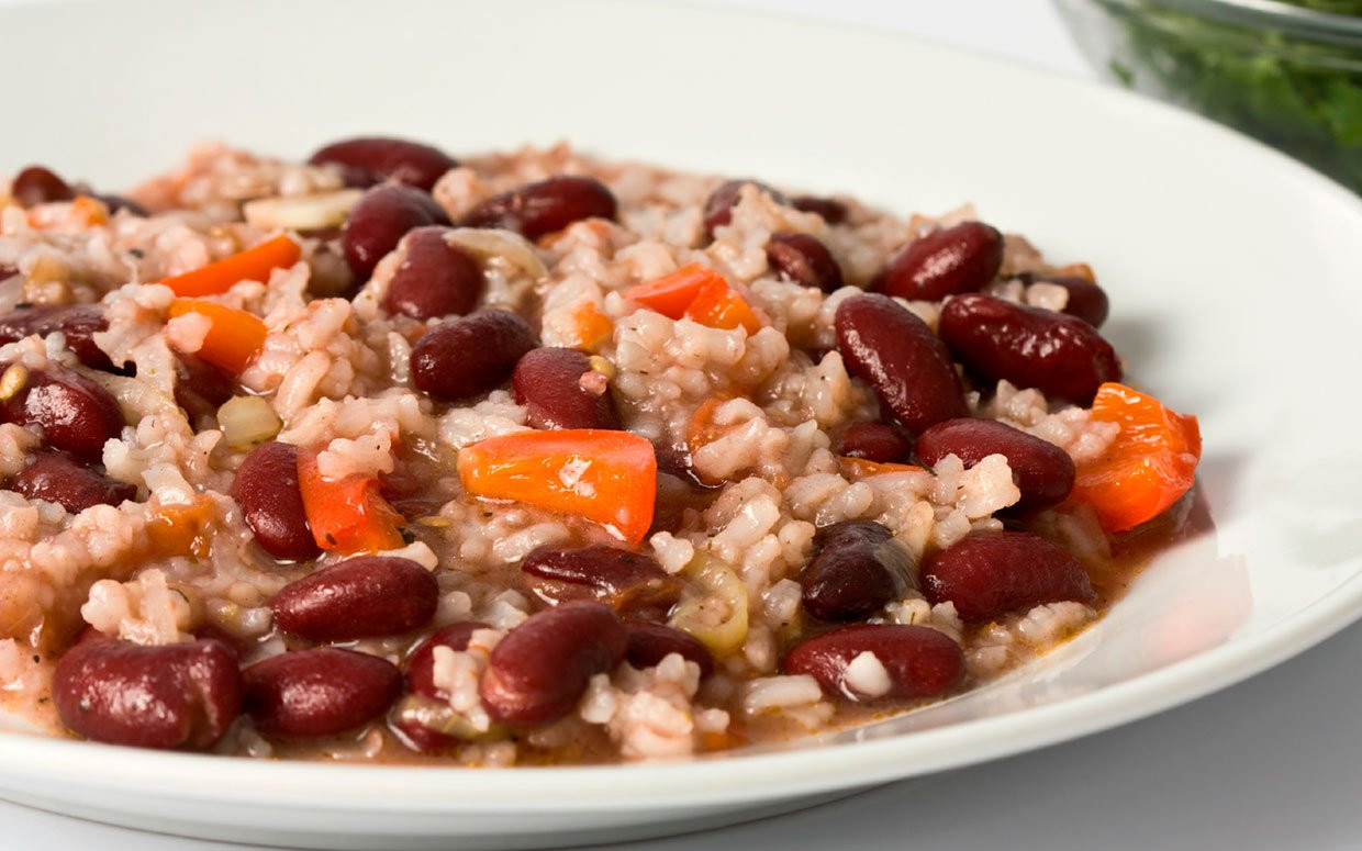 Vegetarian Rice And Beans  Portia and Ellen s Vegan Red Beans and Rice
