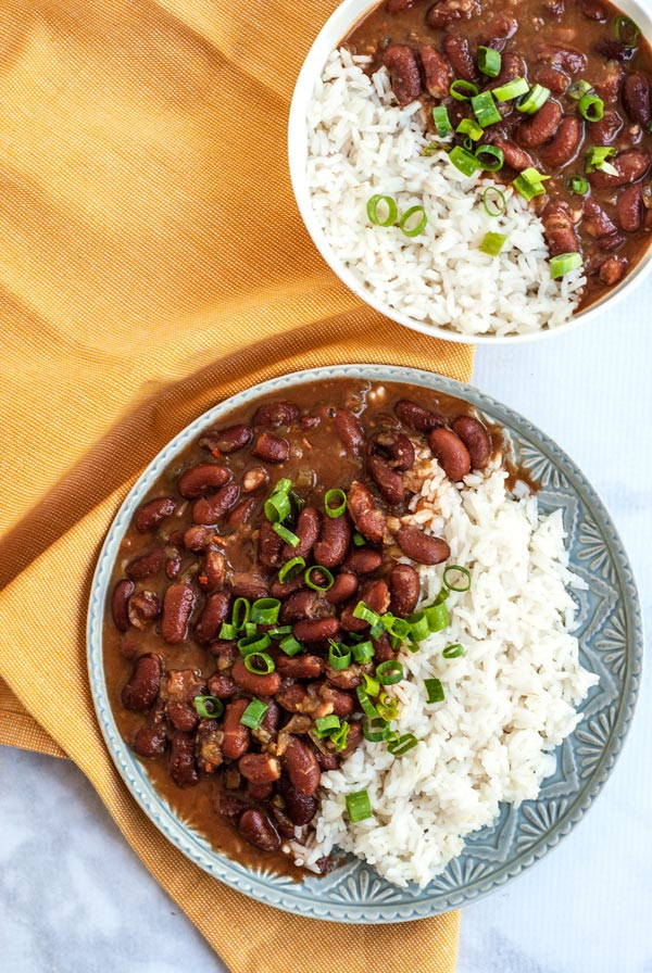 Vegetarian Rice And Beans  Ve arian Red Beans and Rice The Pretend Baker