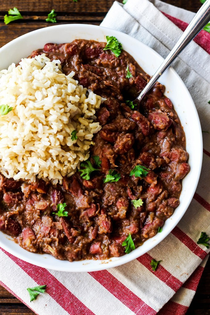 Vegetarian Rice And Beans  Cajun Style Vegan Red Beans and Rice