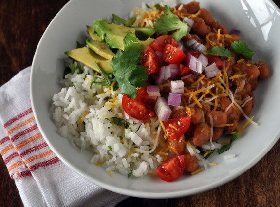 Vegetarian Rice And Beans  Tex Mex Rice and Beans Mountain Mama Cooks
