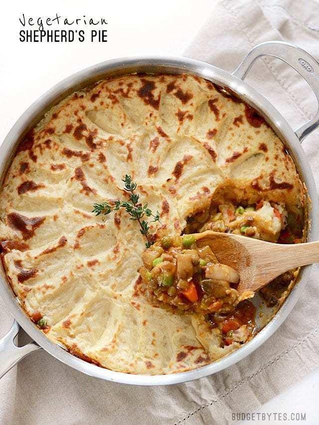 Vegetarian Shephards Pie  Ve arian Shepherd s Pie Bud Bytes