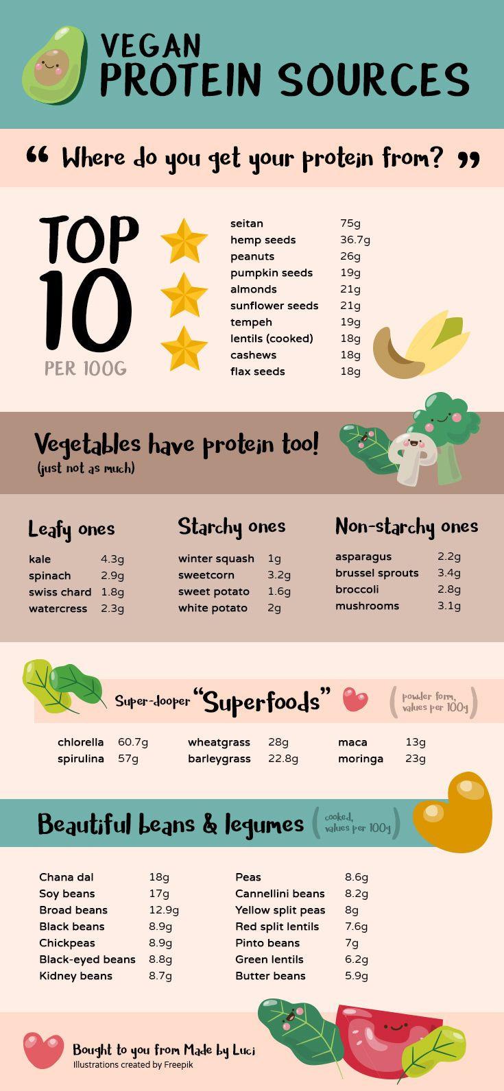 Vegetarian Sources Of Protein  Best 25 Vegan protein sources ideas on Pinterest