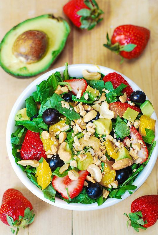 Vegetarian Spinach Salad Recipes  Strawberry spinach salad Julia s Album