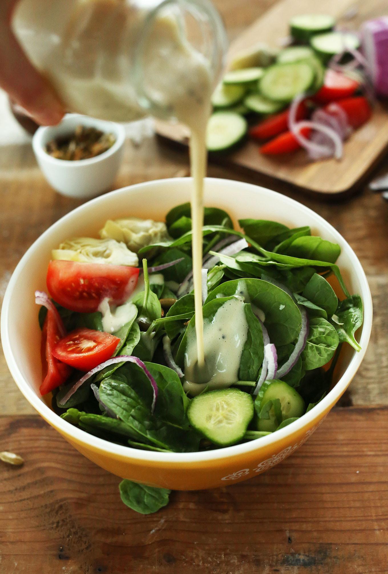 Vegetarian Spinach Salad Recipes  Creamy Spinach Salad