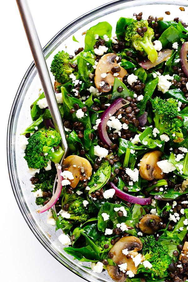 Vegetarian Spinach Salad Recipes  Zesty Lentil Spinach Salad