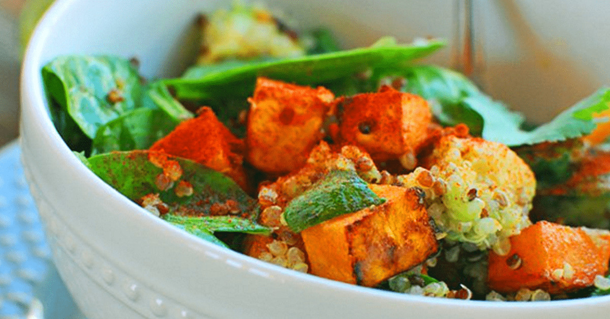 Vegetarian Spinach Salad Recipes  Vegan Spinach Salad With Roasted Sweet Potatoes Very