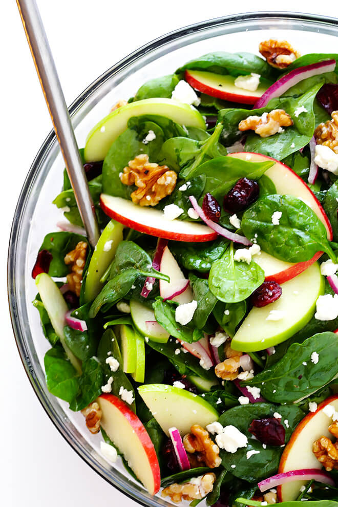 Vegetarian Spinach Salad Recipes  My Favorite Apple Spinach Salad