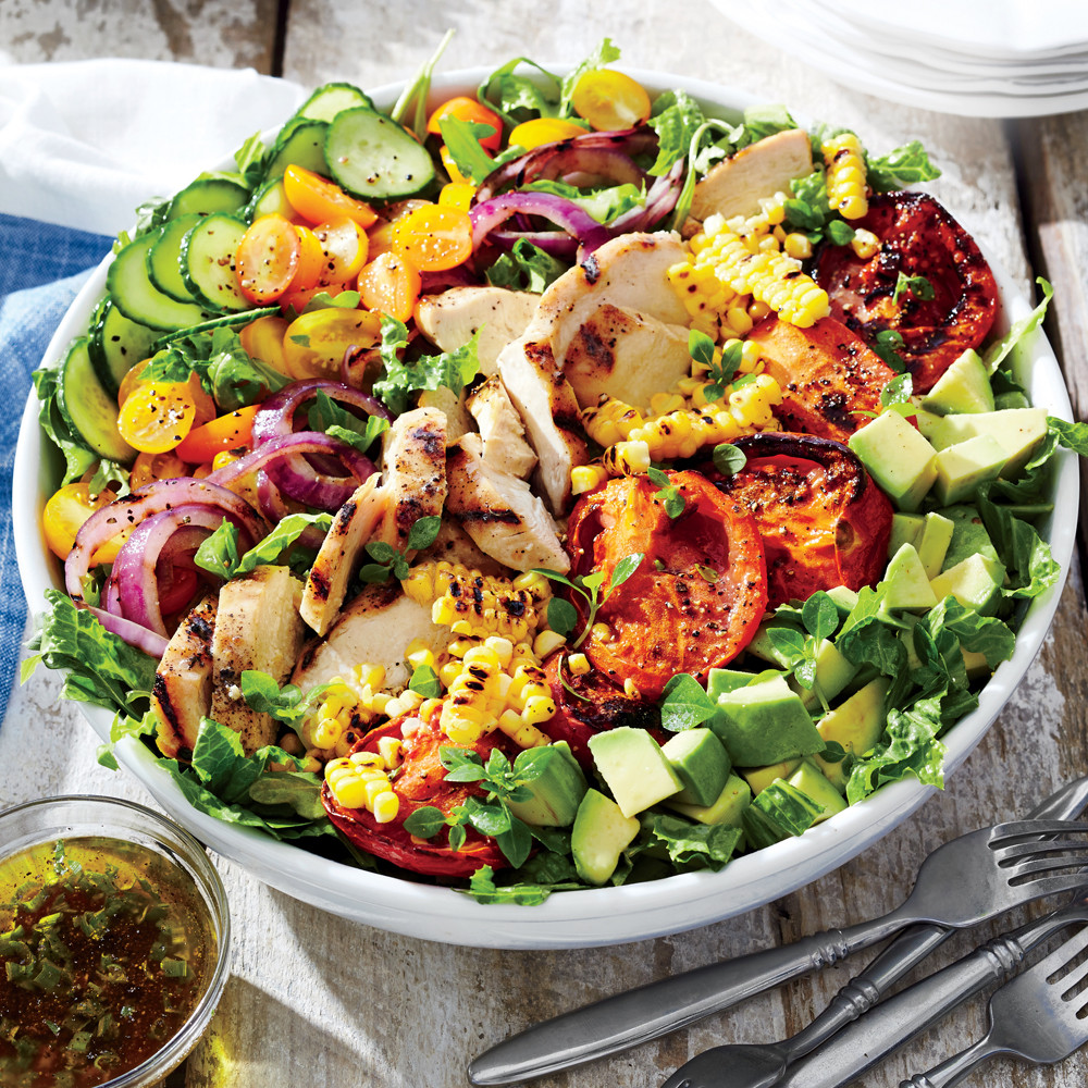 Vegetarian Summer Recipes  Grilled Chicken and Ve able Summer Salad Recipe