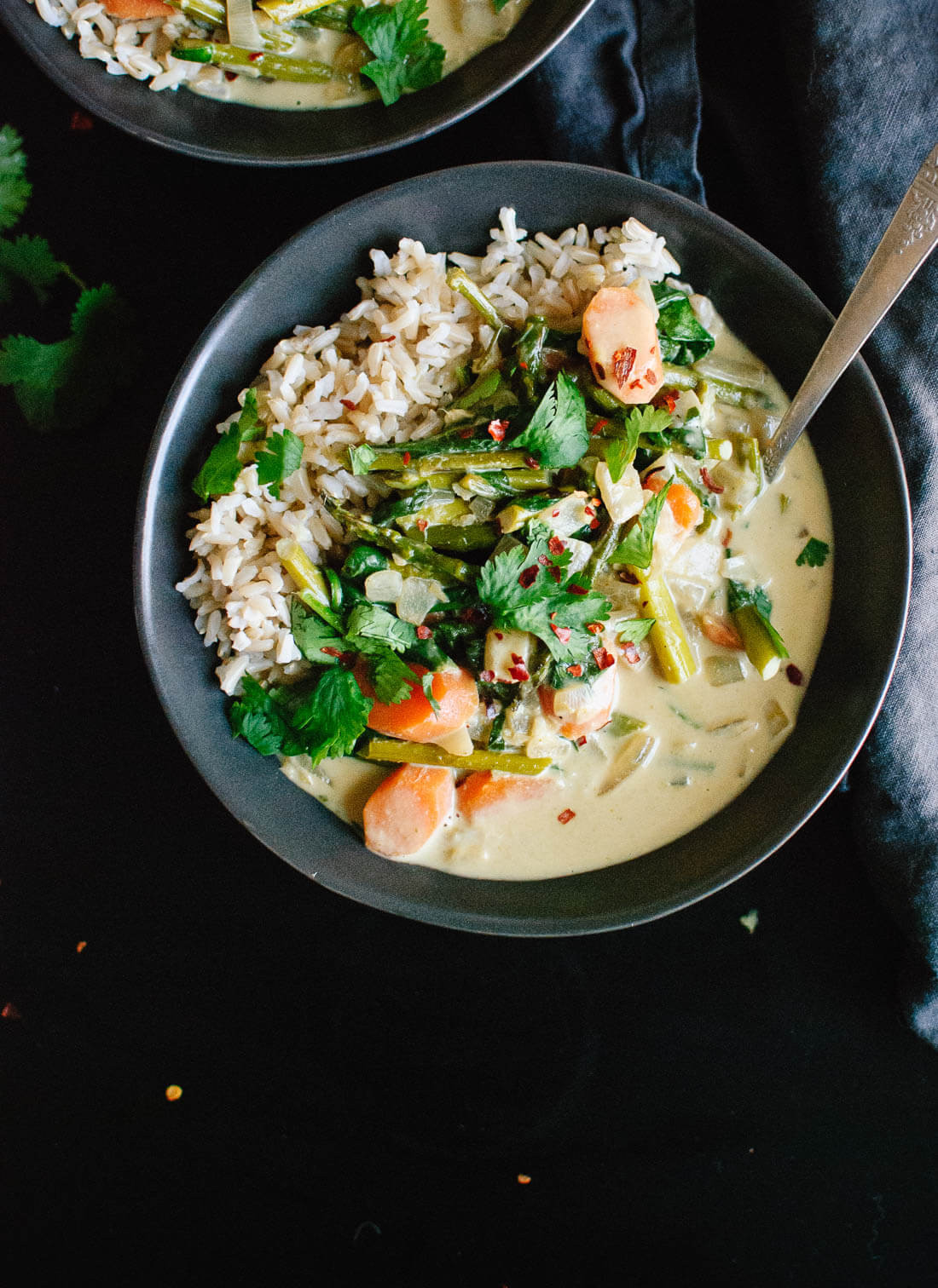 Vegetarian Thai Green Curry Recipes  Thai Green Curry with Spring Ve ables Cookie and Kate