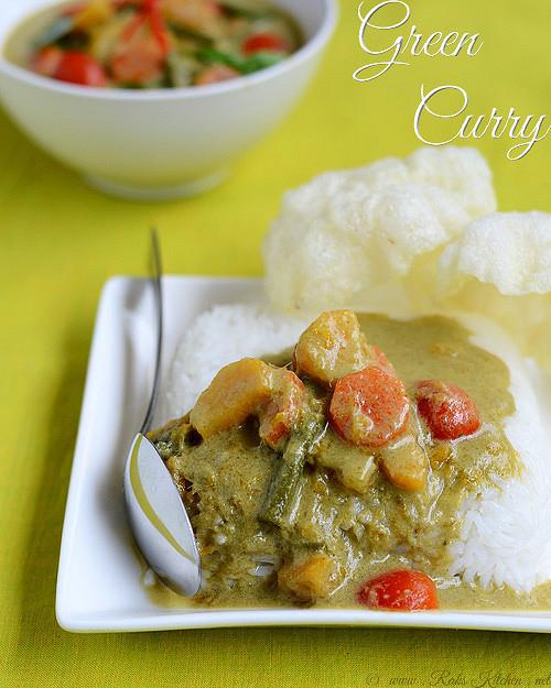 Vegetarian Thai Green Curry Recipes  Green curry recipe